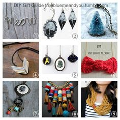 2013 True Blue Me & You DIY Gift Guide: Necklaces Part 1. These are DIY necklaces that you can make in time for the holidays. #diy #crafts #diy_necklaces #necklace_tutorial #roundup_diy_necklaces