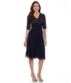 For Mom?   Jessica Howard Surplice Bodice Dress #Dillards