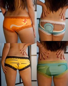 Pokémon Panties For Lady Gamers