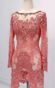 Kebaya Pink, Kebaya Lace, Kebaya Dress, Batik Kebaya, Dress Pesta, Kebaya Muslim, Kebaya Hijab, Kebaya Brokat, Dress Muslim Modern