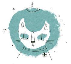 space cat (illustration by nolan pelletier, via designsponge) Cat Art Print, Space Cat, White Cats, Crazy Cat Lady, Illustration Art, Cat Illustrations, Illustrators, Kitty, Art Prints