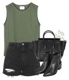 """Untitled #4741"" by eleanorsclosettt ❤ liked on Polyvore featuring Topshop and Pieces"