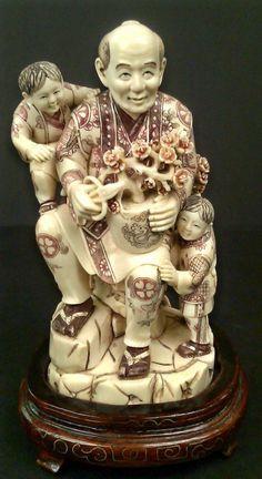Mammoth Ivory Gardener w/ 2 Boys