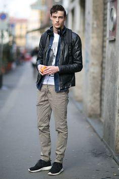 Off Duty Male Models Street Style Milan..