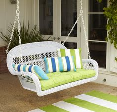 Our Santa Barbara Porch Swing makes a comfy hang-out spot from Pier 1