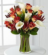 Autumn Grandeur Bouquet - 17 Stems - VASE INCLUDED