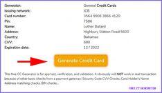 Free Credit Card Numbers Generator, Valid Fake CC Generator - free cc generator Types Of Credit Cards, Best Credit Cards, Paypal Credit Card Number, Visa Card Numbers, Capital One Credit Card, Number Generator, Money Generator, Shocking Facts, Free Credit