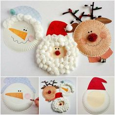 Looking for some fun crafts for kids? These Christmas Characters paper plate crafts are easy and interesting. Christmas Decorations For The Home, Christmas Crafts For Kids, Christmas Activities, Yarn Crafts, Kids Christmas, Holiday Crafts, Christmas Ornaments, Santa Crafts, Diy Home Crafts