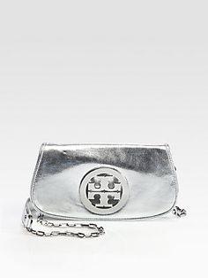 Tory Burch Metallic Logo Convertible Clutch - I have this bag & I love it!!!