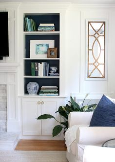 Updating & Adding Cabinet Doors To Built-In Bookcases