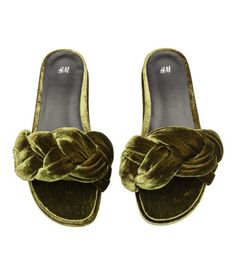 Sandalias sin cierre | Verde caqui | Mujer | H&M MX