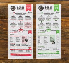 Roast Kitchen | NYC | the art of the menu @underconsideration