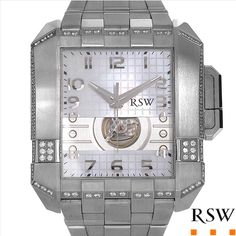 $1,689.00  RAMA SWISS WATCH Made in Switzerland Brand New Gentlemens Swiss Automatic Watch With 1.45ctw Precious Stones - Genuine  Clean Diamonds and Mother of pearls  - Certificate Available.