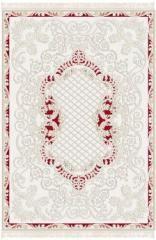 İpek halı Göksu - 1401 kırmızı - krem