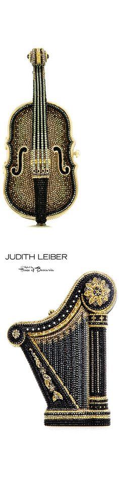 "~Judith Leiber ""Carnegie Hall"" Crystal Harp Clutch & ""New York Philharmonic"" Cello Clutch | House of Beccaria"