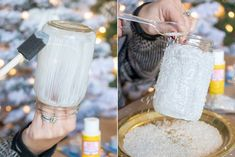 This year, skip the expensive ornaments and lighting and make your own Dollar Tree Christmas decorations. Just add a little elbow grease to make these Christmas DIY projects shine. Christmas Craft Projects, Christmas Crafts To Make, Homemade Christmas, Christmas Fun, Holiday Crafts, Christmas Decorations, Diy Projects, Preschool Christmas, Christmas Tablescapes