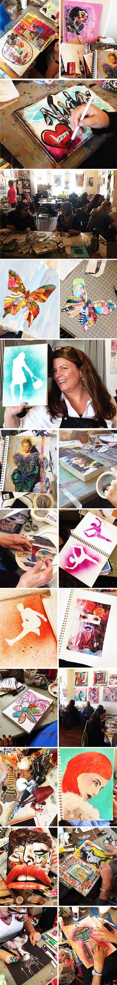 Balzer Designs - In January I taught my two-day workshop, Magazine Magic! We had a ton of fun ripping apart magazines and turning them into all sorts of things!