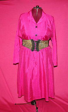 Vintage Pink Stripped Long Sleeve Dress Size 22 5 | eBay