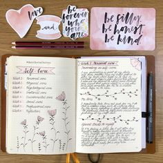 Following along with the Self-Care #bulletjournalchallenge #bujo #journal