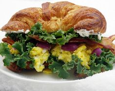 Bacon and Fromage Blanc Scrambled Egg Croissant