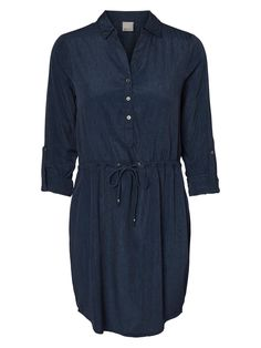 Style this blue tunic from VERO MODA with a brown pair of boots for the 70's look.