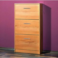 Ashley 3 Drawer Beech Shoe Cabinet Features : £49.95.shoe storage cabinet oak  #furnitureinfashionshoecabinet• Shoe cabinet, shoe storage with three shoe compartments  • Stylih shoe cabinet in beech finish  • Melamine surface provides the ultimate in protection against heat & scratches  • Exquisite solution to your storage requirements  • Quality furniture on an affordable price Dimensions: W58 x H105 x D17cm