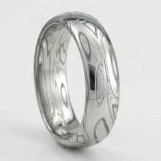 Damascus Womens Wedding Band  5mm ring by MokumeDamascusRings, $469.00.  Beautiful Mokume Damascus ring for sale on my Etsy store.