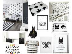 Black and white Scandinavian inspired children's room mood board created on www.sampleboard.com #moodboard #sampleboard #ideaboard