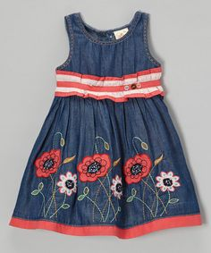 Take a look at this Denim Floral Dress - Infant, Toddler & Girls by the Silly Sissy on #zulily today!