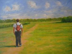 A country walk Country Walk, Paintings, Art, Art Background, Painting Art, Painting, Kunst, Gcse Art, Painted Canvas