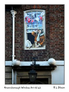 Knaresborough Window Art - photo by richardldixon, via deviantART; part of the Knaresborough Window and Murals Art Project; Mural Art, Murals, Yorkshire England, Window Art, Close To Home, Outdoor Art, Photo Art, Art Projects, Street Art