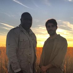 James in New Orleans with actor Nonso Anozie