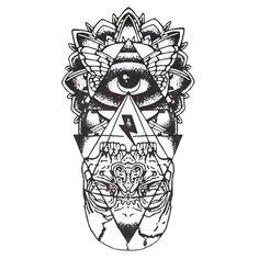 UneTattoo QS-A067 Temporary Tattoo Arm Tattoo 15*21 CM