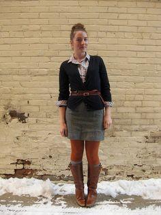 Idea for my gray skirt #fall