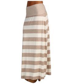 Calvin Klein Striped Maxi Skirt