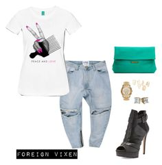 Untitled #130 by foreignvixen on Polyvore featuring BCBGMAXAZRIA, Sandra Cadavid, MICHAEL Michael Kors and Topshop