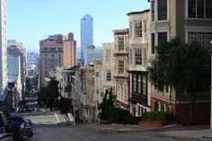 Steep San Francisco hill