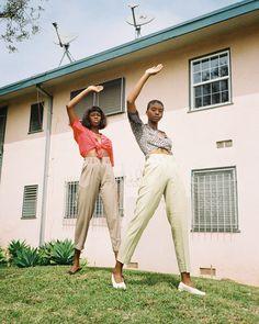Mollie Papouloute & Cheyann Washington for // Styled by Shot on Kodak Gold 200 //… Kodak Gold, Harem Pants, Khaki Pants, Washington, Butterfly, Photo And Video, Suits, Black, Instagram