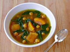 This Butternut Squash and Chickpea Soup is completely unprocessed, seasonal, vegan, and super simple to make.