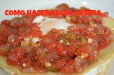 CHUCHEMAN como hacer salsa casera - Recetas mexicanas