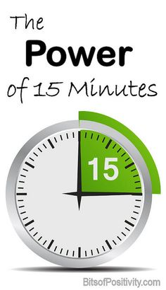 Information about 30-Day Challenges and why 15 minutes a day can make a big difference