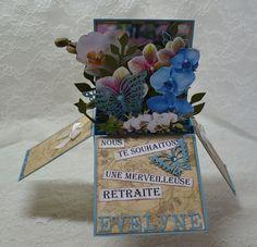 Bonjour tout le monde Aujourd'hui , je vous montre une carte, faite sur demande, pour une dame qui part en retraite et qui adore les orchidées ,une carte pop up . En ce moment , je n'arrête pas d'en faire .On m'en a commandé deux autres hier . Je vous...