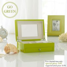 Decorating with green can rejuvenate, revitalize, and refresh your space! Infuse your space with some lush accents: