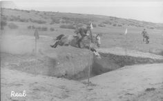 Test for the Spanish Army Riding School... that is one huge ditch!!