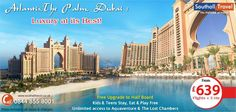 Savour the flavour of authentic #Dubai at #Atlantis,#ThePalm. 3 nights holiday now available from £639 pp. Hurry, book before the offer runs out. http://www.southalltravel.co.uk/holidays/middle-east/dubai/atlantis.aspx