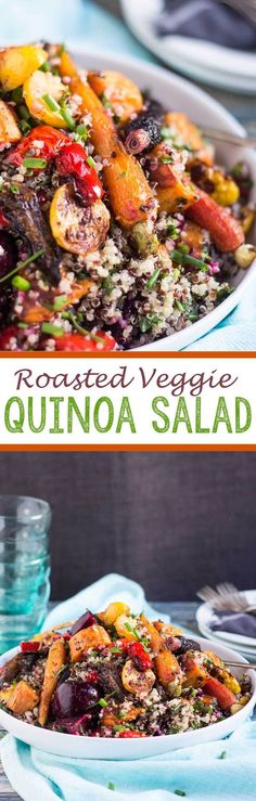 Roasted Vegetable and Quinoa Salad - Eazy Peazy Mealz: