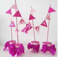 Adorable Birthday centerpieces for your favorite Princess! ∙ CLICK TO CUSTOMIZE AND ORDER ∙