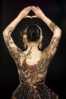 Best World Class Tattoo: Peacock Tattoo Similar With Batik Design From Indonesia