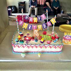Shopkins Birthday cake! #ShopkinBirthday #ShopkinParty #ShopkinSwapkin #ShopkinBlogPost #ShopkindBirthdayParty
