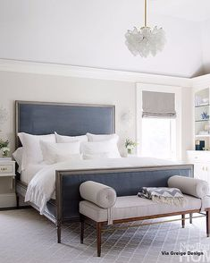 Statement bed - love the color!